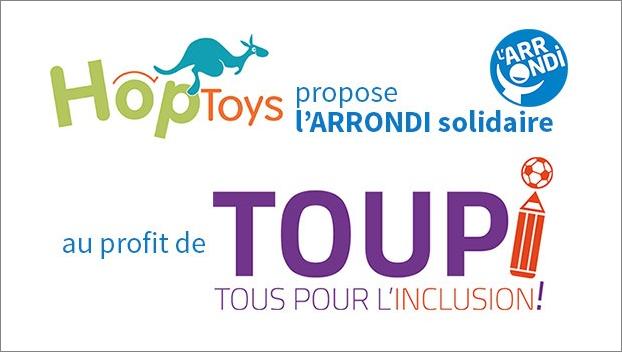 Soutenez TouPI en faisant vos achats de Noël chez Hop'Toys !
