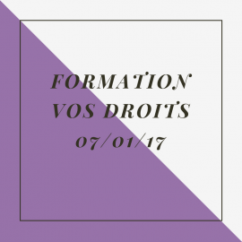 Formation 7 janvier 2017 : vos droits