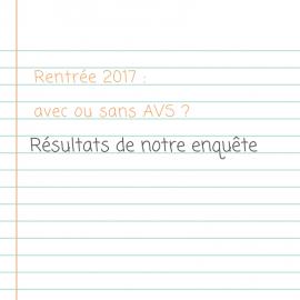 Enquête rentrée 2017 : AVS ou pas d'AVS ?